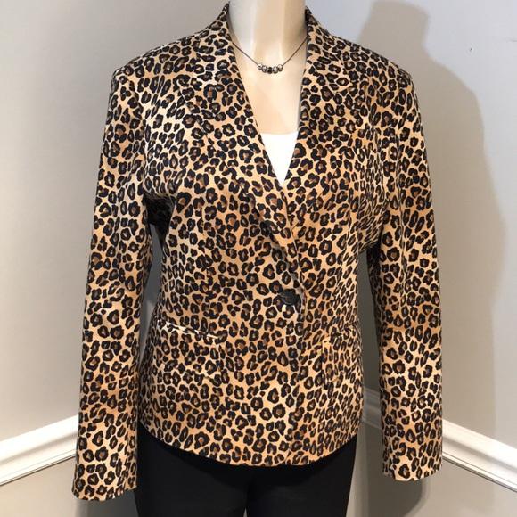c4763bf81915 MICHAEL Michael Kors Leopard Print Blazer Size 14.  M_5a71ec002ae12f40f328503a